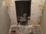 Nieuw toilet en douchecel
