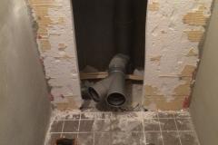 Oude toilet verwijderd